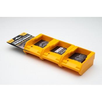Battery mounts for DeWalt XR 18v 20v 54v 60v Flexvolt 6-pack, StealthMounts