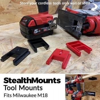 Milwaukee M18 Power Tool Brackets 4 pcs, StealthMounts
