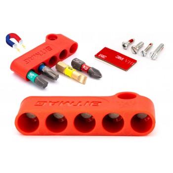 BITMAG™ - magnetischer bithalter, kunststoff-kompositkörper Rot