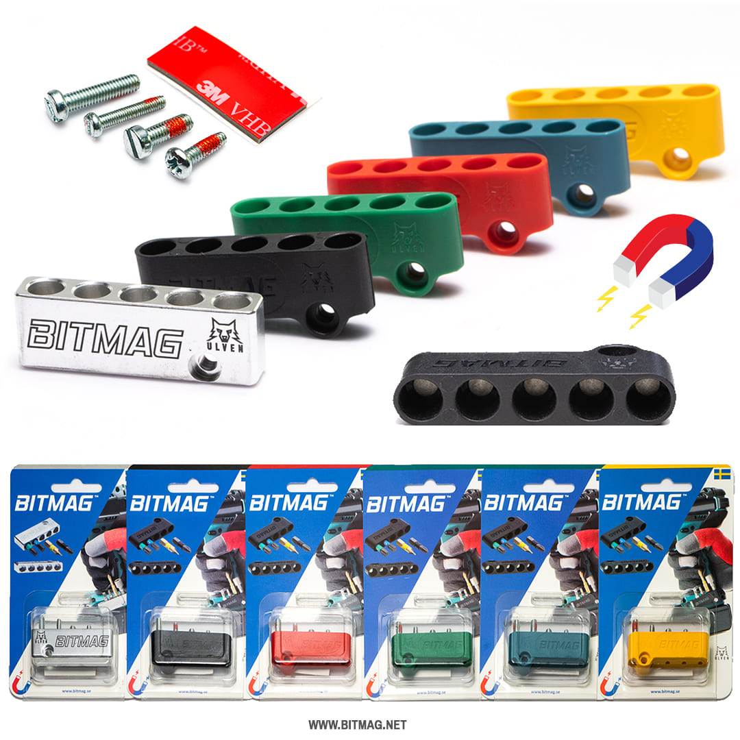 Bitmag - Magnetischer Bithalter für Akkuschrauber / Bohrmaschine